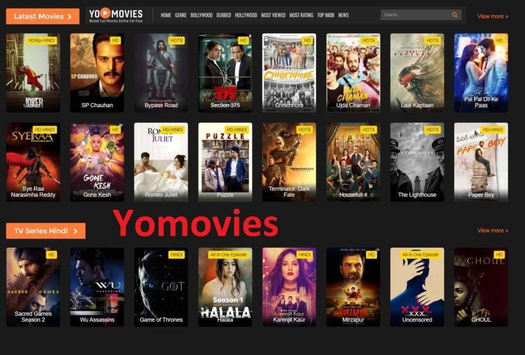 Yomovies Homepage Website