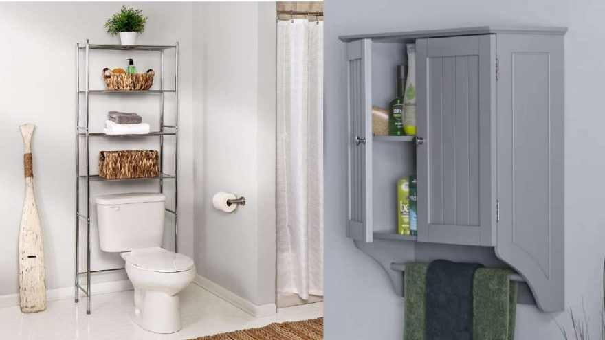 10 New Over The Toilet Storage Ideas