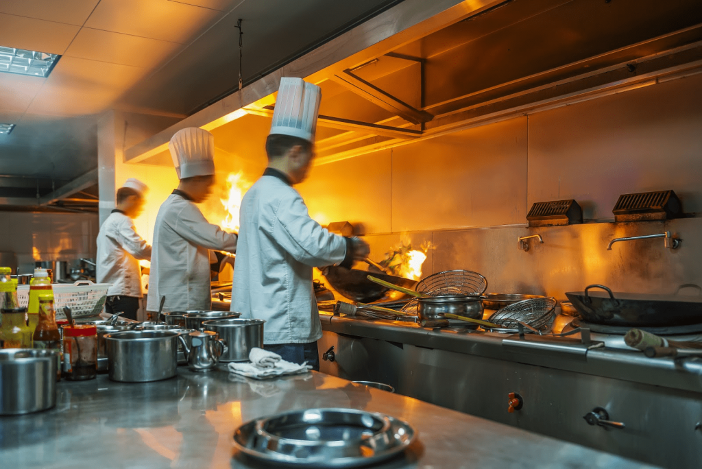 Fill in the right commercial kitchen equipment