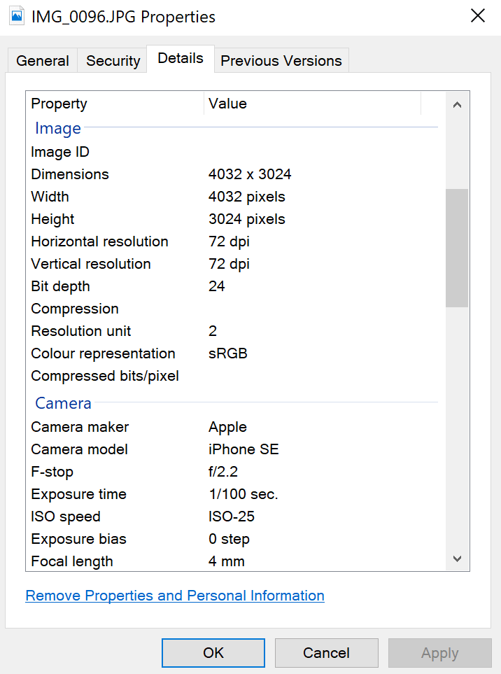 Add Metadata to Images