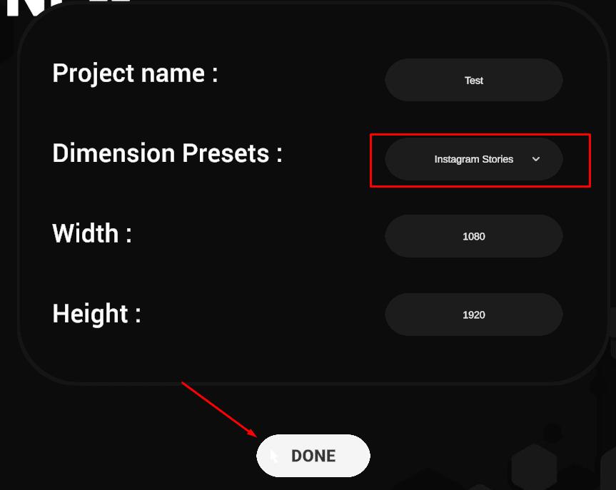 dimension presets